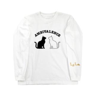 ambivalence official goodsのアンビバキャット長袖アラビア文字入り Long sleeve T-shirts