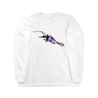 泳ぐ Long sleeve T-shirts