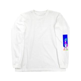 窒息死した青 Long sleeve T-shirts