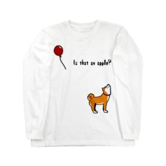 柴犬と風船 Long sleeve T-shirts