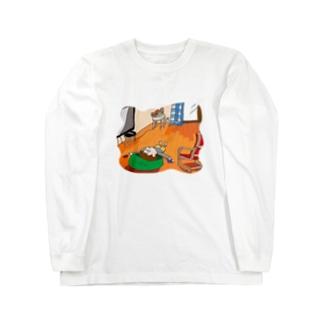 あわてないあわてないひとやすみひとやすみ Long sleeve T-shirts