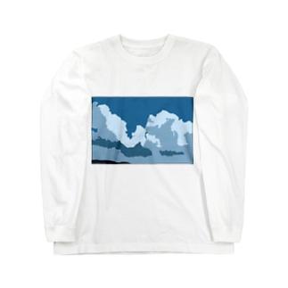 夏、曇 Long sleeve T-shirts
