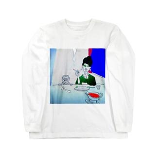カレーを食べに銀座まで Long sleeve T-shirts
