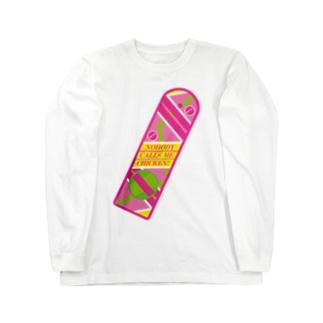 誰にもチキンなんて言わせない!(Nobody calls me chicken!) Long sleeve T-shirts