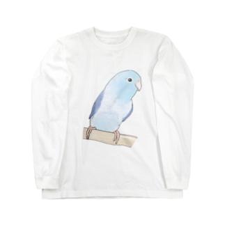 おしゃまなマメルリハのるりちゃん【まめるりはことり】 Long sleeve T-shirts