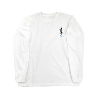 石竜子 左 Long sleeve T-shirts