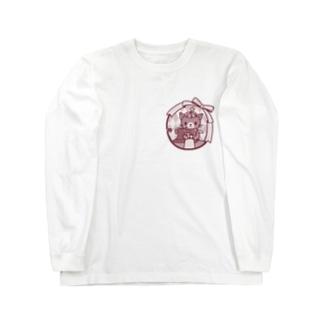 ゆめねこミシン(ワンカラー) Long sleeve T-shirts
