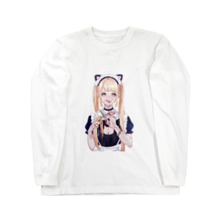 断髪にゃん Long sleeve T-shirts