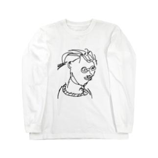 田舎のおばちゃん Long sleeve T-shirts
