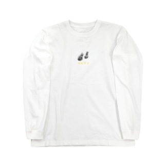 子猫後頭部ロンT Long sleeve T-shirts