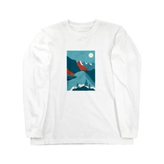 ロッキー山脈 Long sleeve T-shirts