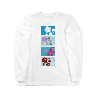 四季と花と雨 Long sleeve T-shirts