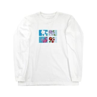 四季の花と雨 Long sleeve T-shirts