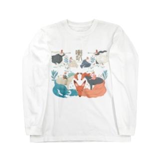 キツネの喇叭(らっぱ) Long sleeve T-shirts