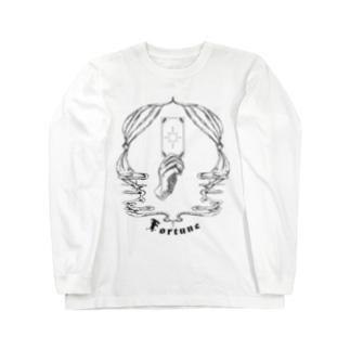 shiho takaokaアトリエショップのFortune tarot 【黒】 Long sleeve T-shirts