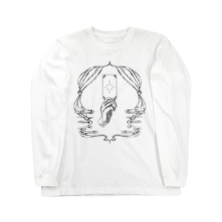 Fortune tarot 【黒 文字なしver.】 Long sleeve T-shirts