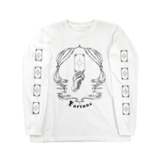 shiho takaokaアトリエショップのFortune tarot 【袖タロット柄】 Long sleeve T-shirts