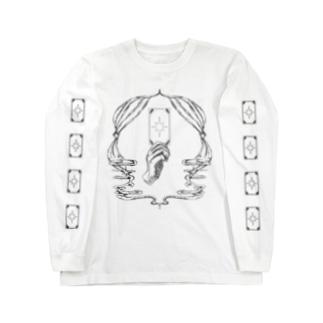 Fortune tarot 【袖タロット柄 文字なしver.】 Long sleeve T-shirts