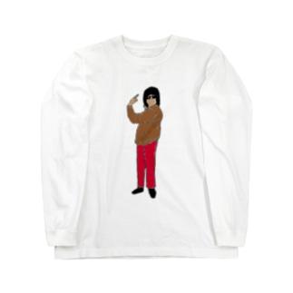 交換ポーズ Long sleeve T-shirts