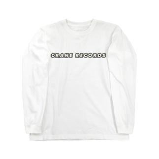 CRANE RECORDS ふちどり Long sleeve T-shirts