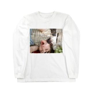 あくび万次郎 Long sleeve T-shirts