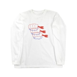 エビ Long sleeve T-shirts