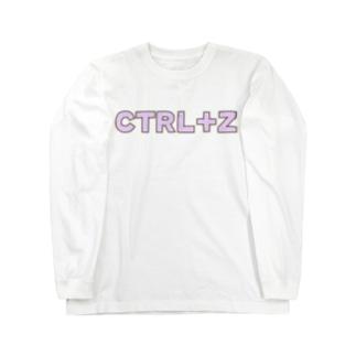 CTRL+Z 取り消し 元に戻す Long sleeve T-shirts
