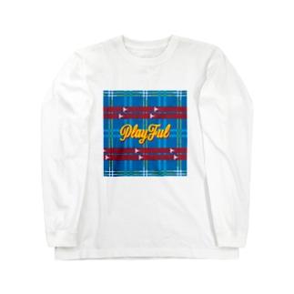 琉球絣 Long sleeve T-shirts