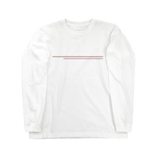 シンプルライン ブラウン Long sleeve T-shirts