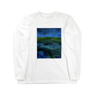 砂漠の夜 Long sleeve T-shirts