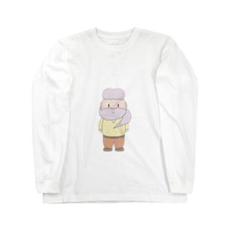 ヒゲマフラー Long sleeve T-shirts