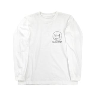 ぎゅうにゅうひげ Long sleeve T-shirts