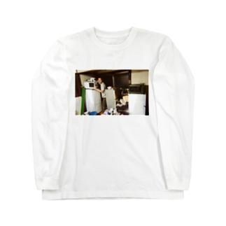 冷蔵庫廃品回収記念品(カラー) Long sleeve T-shirts