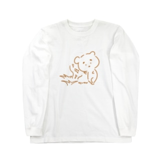 まゆ毛くまさん『虫のこえ』 Long sleeve T-shirts