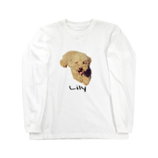 犬Tee(プードル) Long sleeve T-shirts