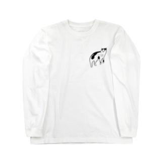 ヅラネコ(透過) Long sleeve T-shirts
