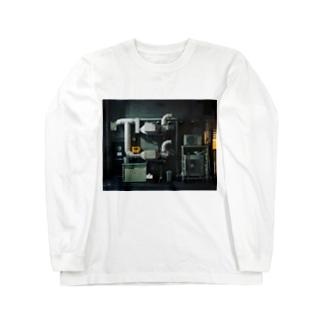 配管のある暮らし Long sleeve T-shirts