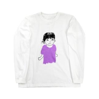 にらみガール Long sleeve T-shirts