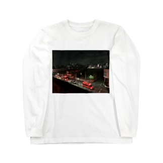 dadada555の団地の夜 Long sleeve T-shirts