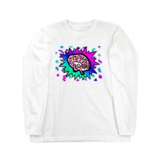 脳みそパンパカパーン Long sleeve T-shirts