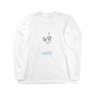 やばい体勢で滝壺に飛び込むラッコ Long sleeve T-shirts