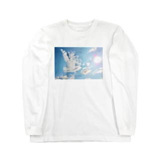 純白の鳳凰 Long sleeve T-shirts