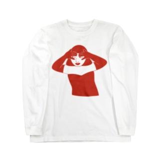 紅イ誘惑 Long sleeve T-shirts