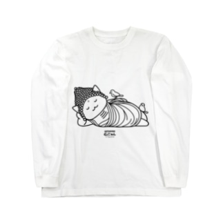 仏にゃん(黒線) Long sleeve T-shirts