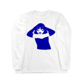 青イ誘惑 Long sleeve T-shirts