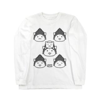 仏にゃんs(黒線) Long sleeve T-shirts