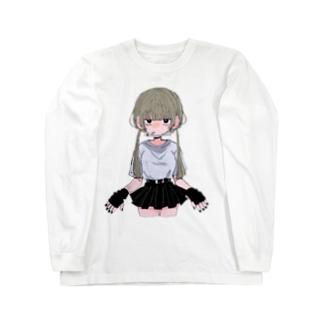 ヤニカス少女 Long sleeve T-shirts