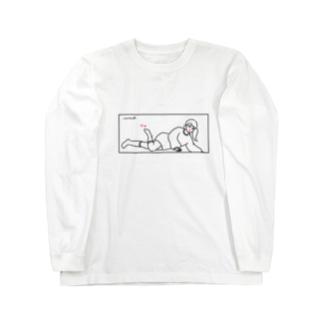 爪先に色気 Long sleeve T-shirts