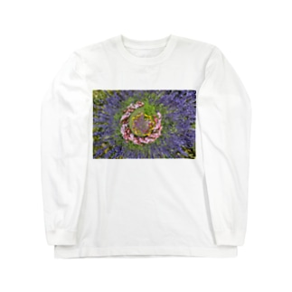 ぐるぐる花々 Long sleeve T-shirts