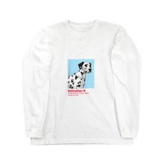 ダルメシアン Dalmatian Long sleeve T-shirts